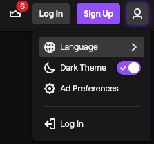 Image 1 - login signup twitch